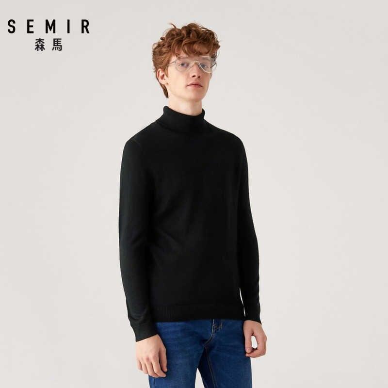 Semir sweter z wysokim kołnierzem mężczyźni moda zimowa z kapturem 2019 koreańskiej wersji student przędzy przystojny sweter