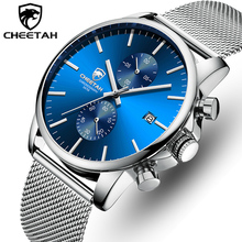 CHEETAH Men Watch New Top Brand Stainless Steel Waterproof Chronograph
