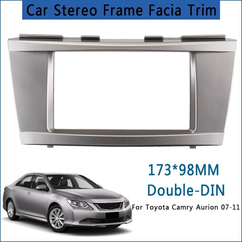 Автомобильная стереосистема Радио DVD Панель аудио крепление лицевой панели комплект для Toyota Camry Aurion 2007 2008 2009 2010 2011 DVD установка рамки Даш Ком...