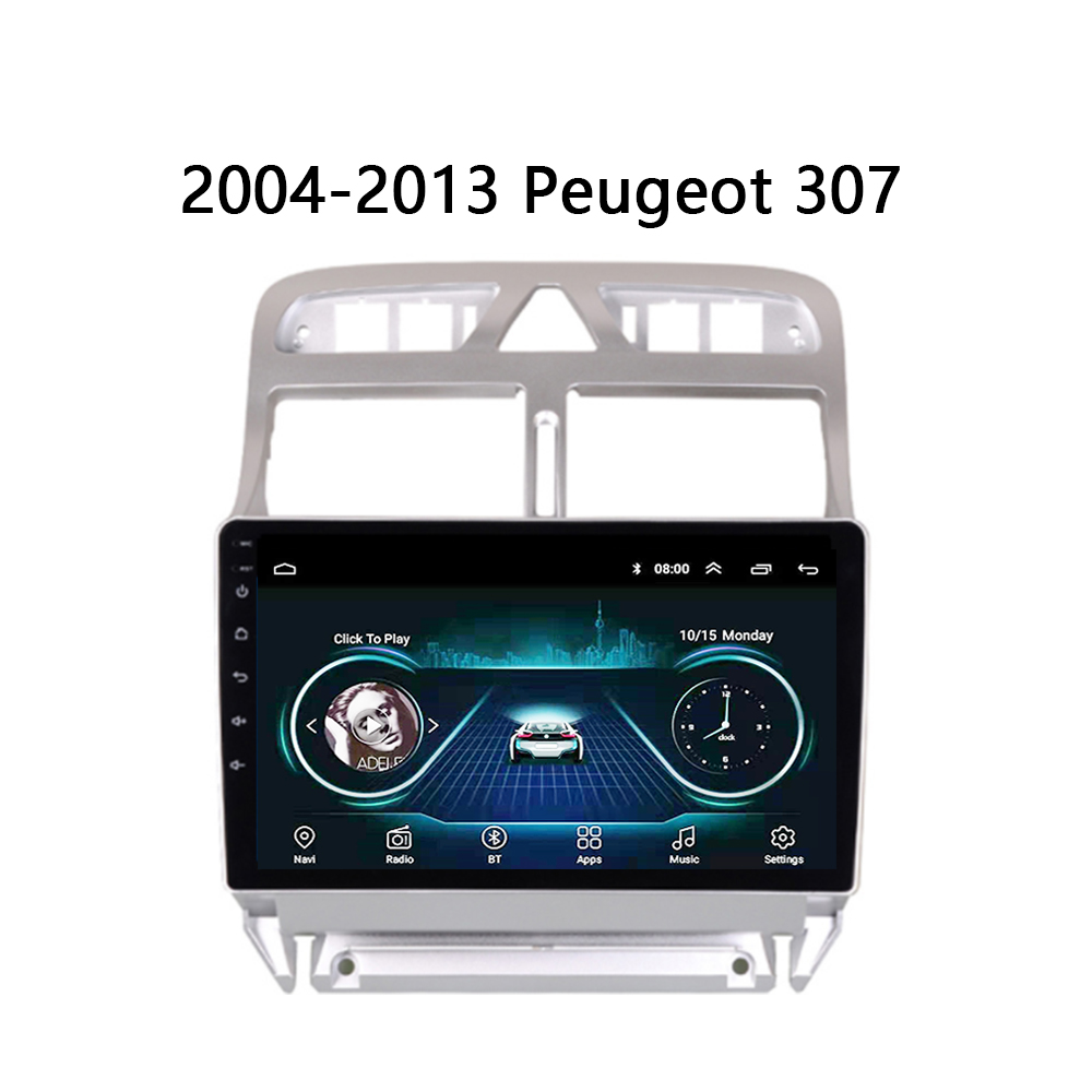 <font><b>Car</b></font> <font><b>Radio</b></font> For <font><b>peugeot</b></font> <font><b>307</b></font> 307CC 307SW GPS Navi 2002 2003-2013 Multimedia system audio stereo Android 8.1 9