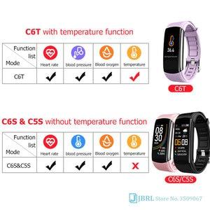 Image 5 - 2020ใหม่สมาร์ทนาฬิกาผู้หญิงผู้ชายอุณหภูมิSmartWatch Fitness Tracker Heart Rate Monitorนาฬิกาสมาร์ทสำหรับAndroid IOS
