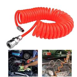 50% vendas quentes!!! Tubo espiral telescópico da mola da mangueira da tubulação do compressor de ar de 12m com conector rápido