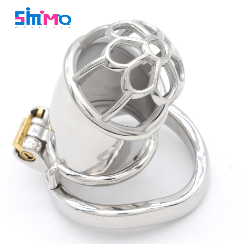 SMMQ Men <font><b>Penis</b></font> Cage Stainless <font><b>Steel</b></font> Chaste Bird <font><b>Rings</b></font> Male Chastity Devices Add Catheter BDSM Sex Toys For Couples Life SexShop image