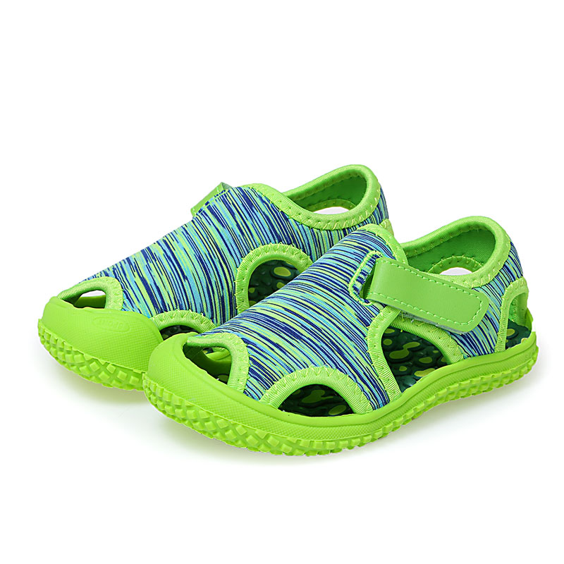 Kids Shoes Boys Baby Beach Sandals Fashion Camouflage Children Girls Casual Sneakers Soft Bottom Sandals Blue Green SMG064