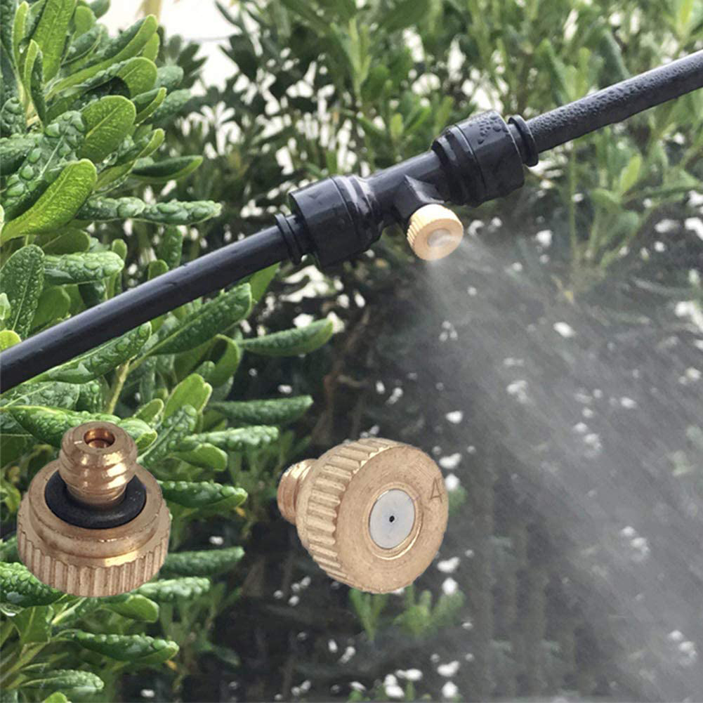 10 pièces buses de brouillard portables té Kit ménage jardin éléments de plantation pour Patios brumisation système jardin brouillard d'eau