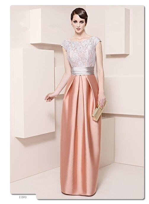 Top Quality cap sleeve V back lace mother of the bride dresses Floor-length godmother dresses mutter der brautkleid 2015 MMBD47