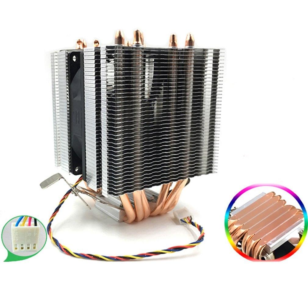 Avc Pure Copper 6 Heat Pipe Cpu Heat Sink Amd 1155 1156 Desktop Computer Cpu Fan Cpu Cooler Heat Sink