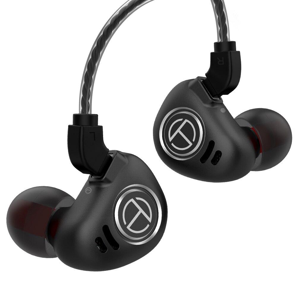 Image 2 - TRN V90 1DD 4BA Metal Headset Hybrid Units HIFI Bass Earbuds In  Ear Monitor Earphones Noise Cancelling Earphone V80 ZSX V30 X6 CPhone  Earphones