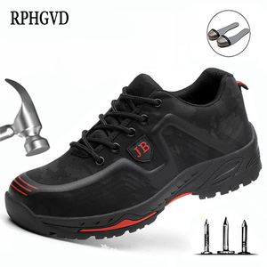 Image 1 - أحذية عمل واقية العمل التأمين الأحذية الذكور تنفس مزيل العرق مقدمة حذاء من المعدن مكافحة تحطيم مكافحة ثقب موقع الأحذية