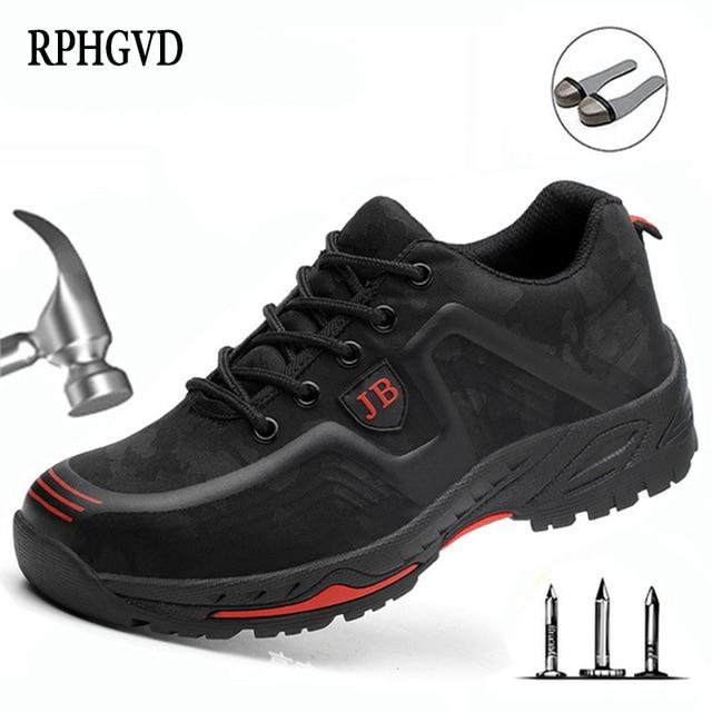 أحذية عمل واقية العمل التأمين الأحذية الذكور تنفس مزيل العرق مقدمة حذاء من المعدن مكافحة تحطيم مكافحة ثقب موقع الأحذية