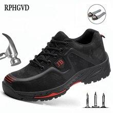 Chaussures de travail de sécurité chaussures dassurance du travail mâle respirant déodorant embout en acier anti fracassant chaussures de site anti perçage