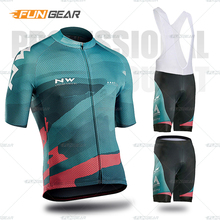 2019 NORTHWAVE Summer Men Cycling Jersey Short Sleeve Set Breathable Bib Gel Pad Shorts Bicycle Clothing Maillot Ropa Ciclismo