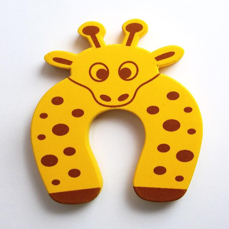 Купить с кэшбэком 3Pcs/Lot Cartoon Animal Jammer Baby Kid Children Safety Care Protection Silicone Gates Doorways Decorative Magnetic Door Stopper