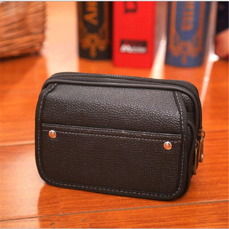 LKEEP Mobile Phone Waist Pack Testificate Bag Coin Purse Strap Casual Mobile Phone Bag Waist Bag Belt Waist Pouch For Men