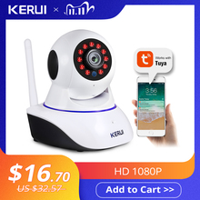 KERUI Mini cámara de seguridad inalámbrica para interiores, dispositivo de seguridad IP de 720P, 1080P, Wifi, cámara de vigilancia CCTV para el hogar, 1MP, 2MP, Tuya, Smart Life, visión nocturna
