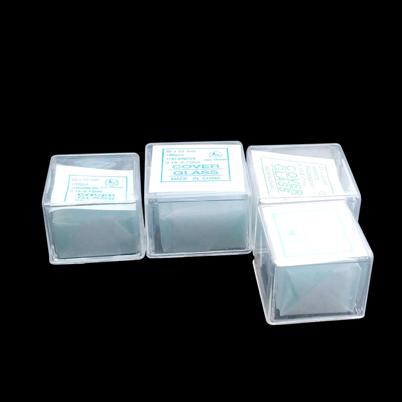 100pcs Transparent Slides Coverslips Coverslides Cover Glass 18x18 20x20 22x22 24x24mm For Microscope