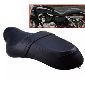 Motorcycle Cafe Racer Seat Vintage Saddle Flat Pan Retro Seat Refit For Harley XR1200/1200X Sportster 1200/883/883L/883R 2004-16
