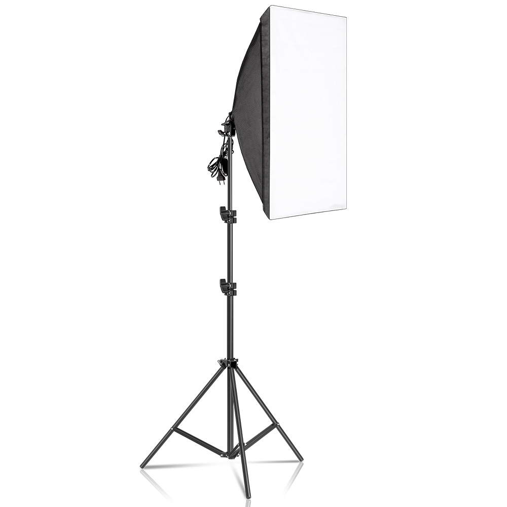 H1b6359aa38c140cfabf0563db6824d28U Photography 50x70CM Softbox Lighting Kits Professional Light System With E27 Photographic Bulbs Photo Studio Equipment