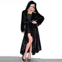 Fashion 120cm Long Real Mink Fur Coat with Hood High Quality Women 2021 New Full Pelt Mink Fur Coat Genuine Fur Overcoat Luxury