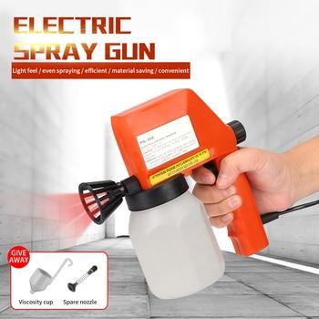 цена на Spray Gun Airbrush Air Brush Kit With Compressor 75W 220V Electric Paint Sprayers Pstola de Pintura Makeup Powder Coating Gun