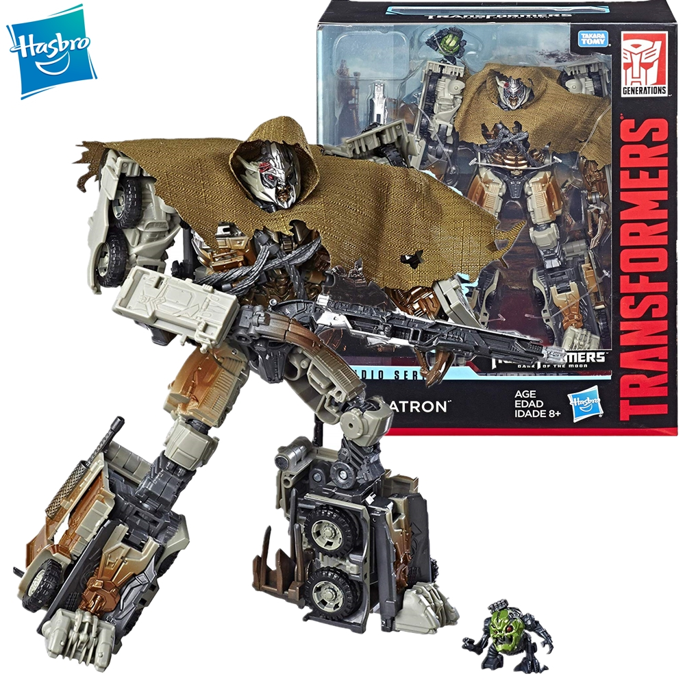 Hasbro Transformers Toys Studio Series 34 Leader Class Dark of the Moon Movie Megatron with Igor Action Figure Model 8.5-inch