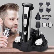 Afeitadora eléctrica Facial para hombre, Kit de aseo corporal, máquina de afeitar para Barba y nariz, seco y húmedo