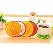 1 шт фруктовая форма подстаканник силиконовый коврик для чашки Креативный нескользящий изоляционный коврик подстаканник кухонная барная посуда