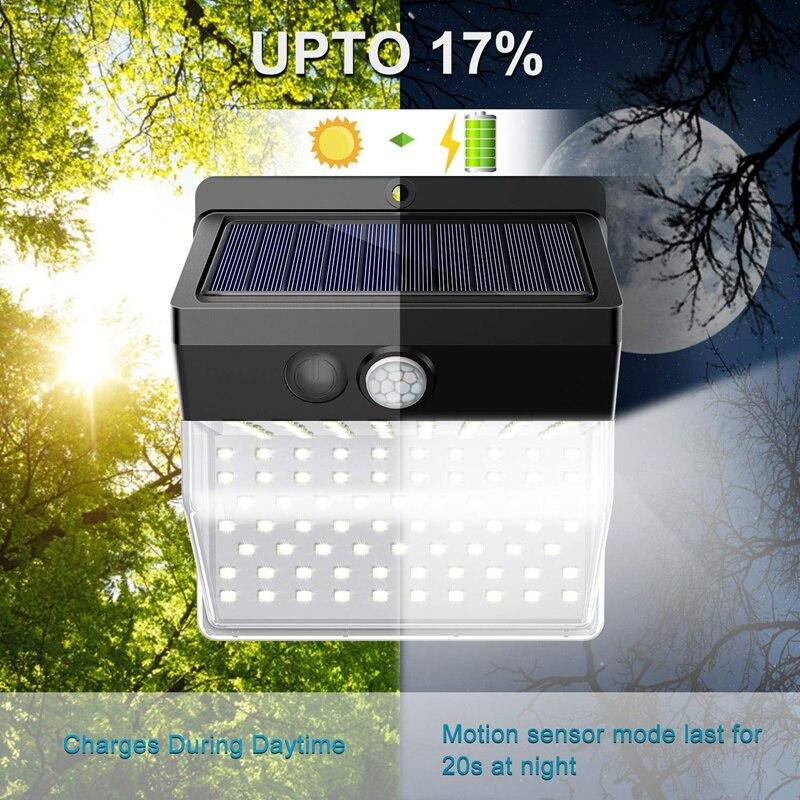 136 LED New Version Solar Lights Outdoor,Solar Security Outdoor Lights 270 Degree Wide Angle Lighting Solar Motion Sensor Lights