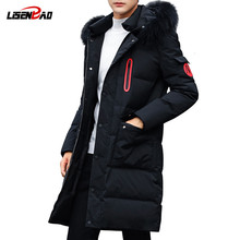 LiSENBAO 2019 New arrival Winter jacket men brand clothing cotton thick long coat male quality Casual fashion men Clothing 1826