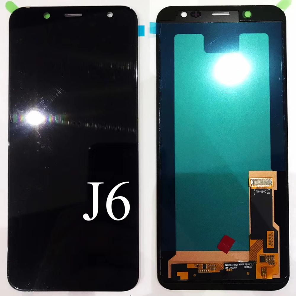 OLED Copy Screen For Samsung Galaxy J6 2018 J600 J600F/DS J600G/DS Touch Screen Digitizer LCD Display Adjust For J6 2018 J600