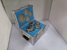 F1 Grade 4 Stuks 1Kg 5Kg 304 Rvs Digitale Schaal Kalibratiegewichten Kit Set W Certificaat, precisie Verpakt