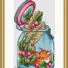 Fan Cross-Stitch-Kit Embroidery Handmade Needlework Counted 14ct for The Little World-Of-The-Fox
