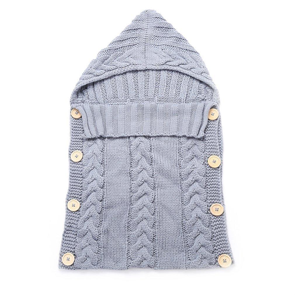Baby Infant Sleeping Bag Acrylic Fibers Hoodies Swaddle Wrap Thick Warm Large Baby Sleep Mat Blanket Swaddling Sweater Newborn