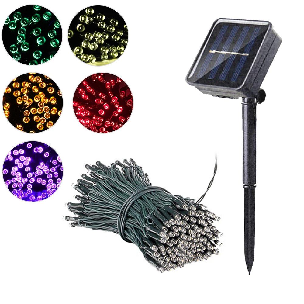 50/100 Led Fairy Light Outdoor Solar Powered String Light Wedding Christmas Garland Lamp 7m/12m/22m Garden Decoration Waterproof
