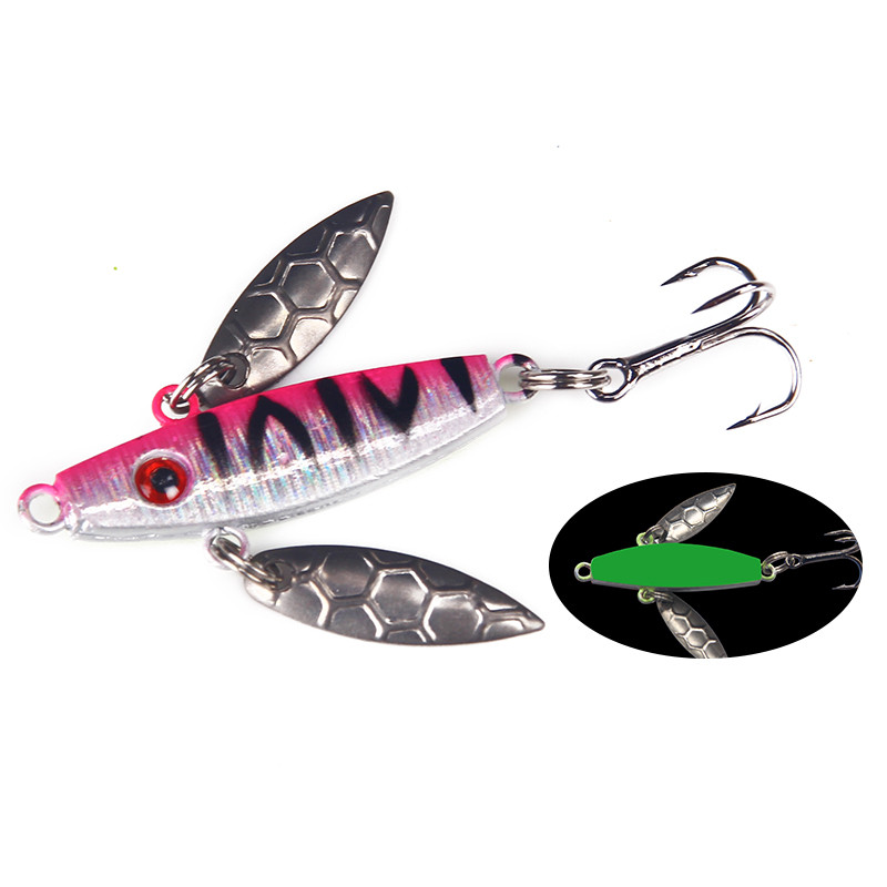 HAODIAOZHE Fishing Lure Sinking Metal VIB 7.3g 55mm Hard Artificial Vibration Bait Winter Ice Fishing Tackle YT41