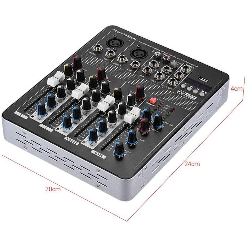 misturador de audio linha microfone 04