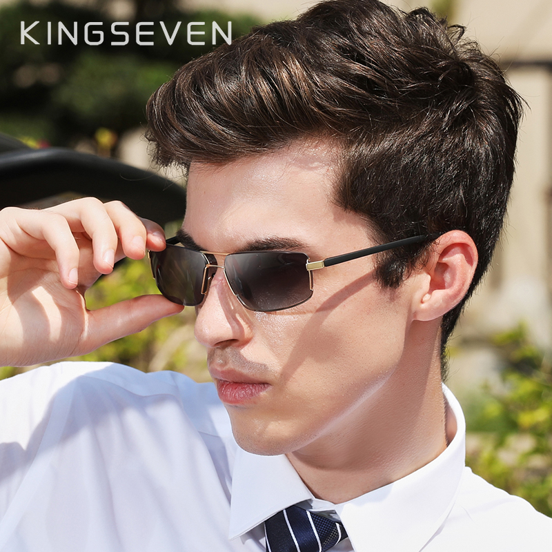 KINGSEVEN Brand Design Sunglasses Men Driving Square Frame Sun Glasses Male Classic Unisex Goggles Eyewear Gafas