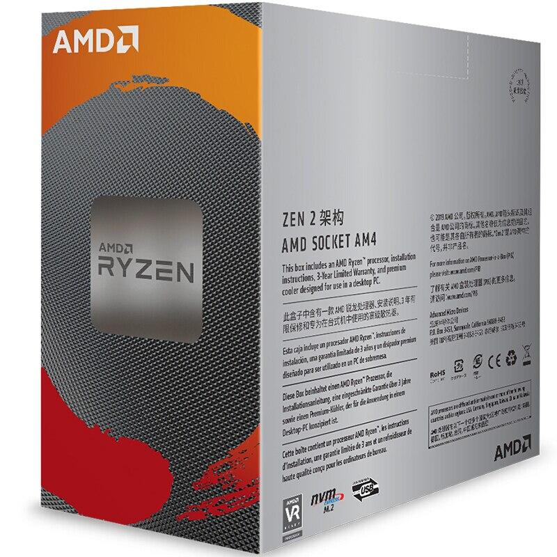 AMD Ryzen 5 3600 R5 3600 3.6 GHz Six-Core Twelve-Thread CPU Processor 7NM 65W L3=32M 100-000000031 Socket AM4 brand new with fan 2