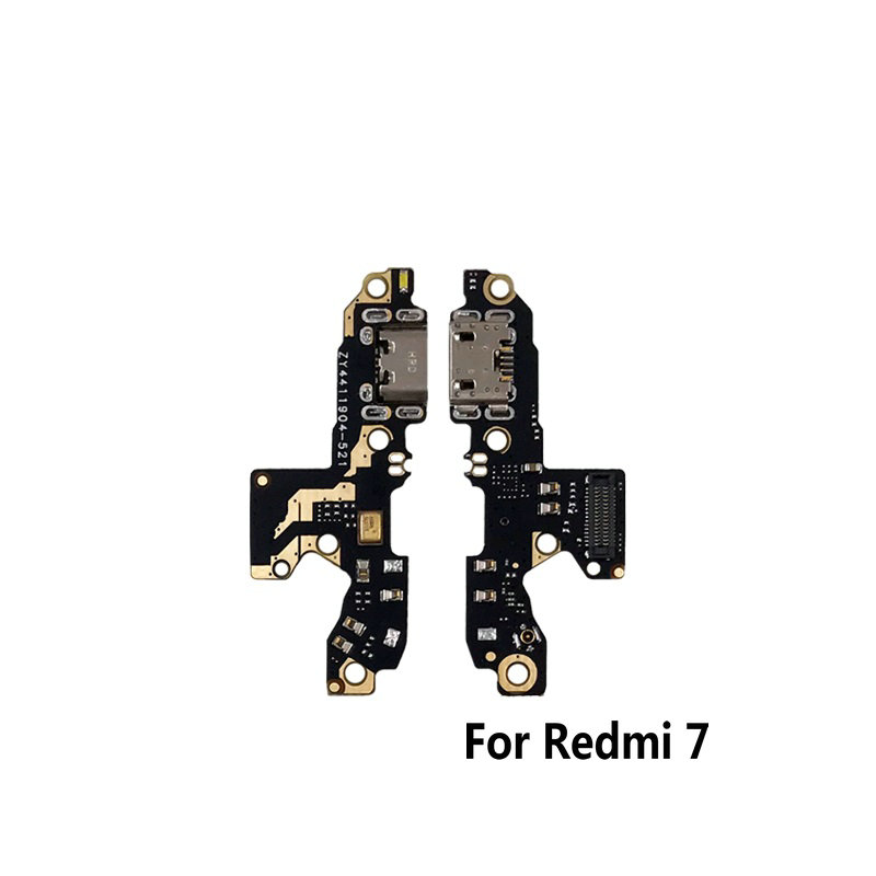 New Microphone Module+USB Charging Port Board Flex Cable Connector Parts For Xiaomi Redmi 7 / 7A / Note 7 7pro Replacement