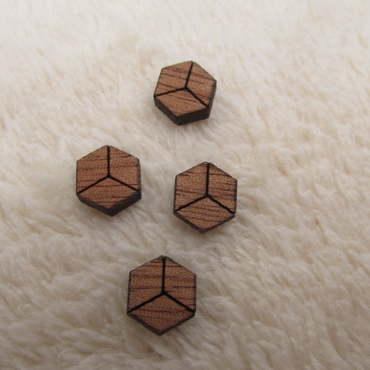 Long Hollow Hexagon Shape Wood Jewelry- Wood Shapes 10 Pieces DIY Unfinished Laser Cut Natural Wood Earrings Blanks 2 12 inch