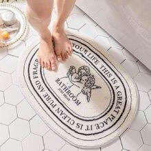 Simplicity Floor Rugs Absorbent Mat Nordic Thicken Bathroom Toilet Door Doorway Mat Soft Non-slip Household Carpet Mat
