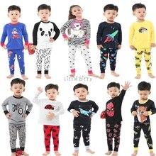 Детская одежда; комплект из 2 предметов; Хлопковая пижама с длинными рукавами; детская одежда для сна; рождественские пижамы для девочек; одежда принцессы; пижамы для мальчиков