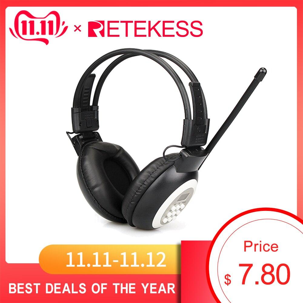 Retekess TR101 FM Kopfhörer Radio Empfänger Headset für Große Treffen Konferenz Gleichzeitige Interpretation System