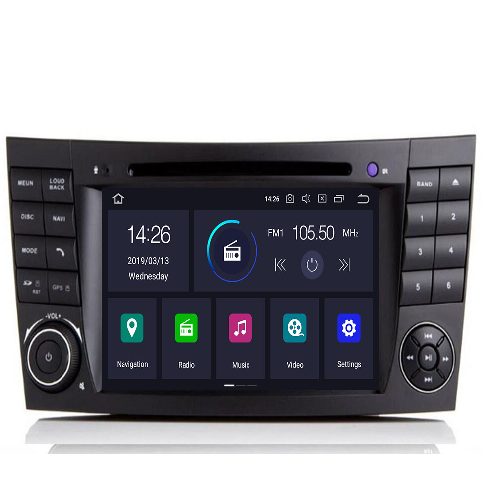 In Stock Android 10 IPS Touch Screen Car DVD Player For <font><b>Mercedes</b></font> <font><b>Benz</b></font> E-Class W211 E200 E220 E300 <font><b>E350</b></font> Quad Core Wifi Radio GPS image