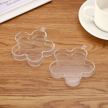 4Type Clear Plastic 3D Bath Bomb Mold Heart Shape DIY Bath Bomb Mold DIY Christmas Xmas Trees Decoritions Bath Accessories 2