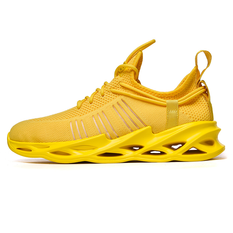 G157 Yellow-Couples Sneakers Casual Breathable Comfortable Sport Running Shoes