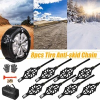 4/8/16pcs/set Car Tyre Winter Roadway Safety Tire Snow Adjustable Anti skid Safety Double Snap Skid Wheel TPU Chains for Car SUV