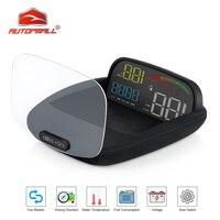 Head Up Display OBD II GPS Speedometer Alarm Function Practical 2 In 1 HD C800 On board Computer Speed Projector Car HUD