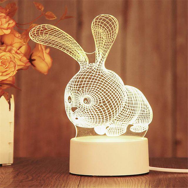Фото 3d светодиодный ночник неоновые огни креативная светодиодная цена