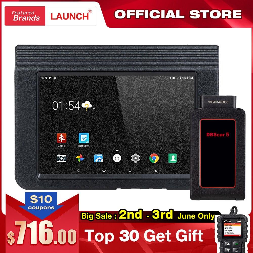 LAUNCH X431 V Bluetooth Wifi Car Full System Diagnostic Tool ECU Coding DPF TPMS 16 Reset V Pro Mini OBD2 Code Reader Scanner